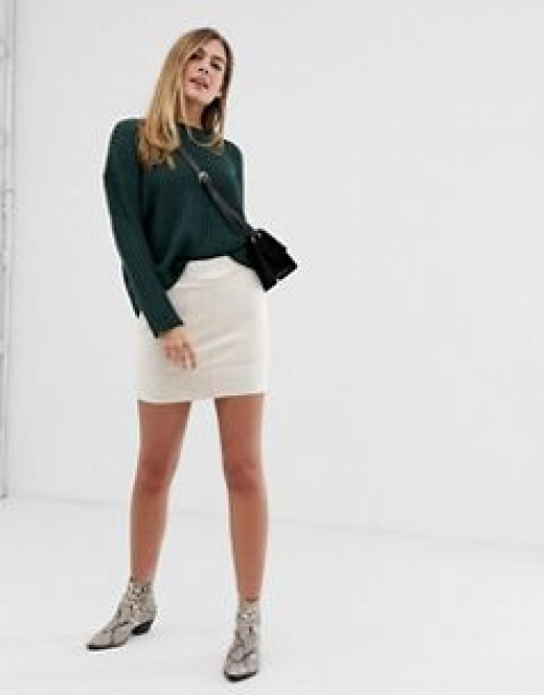 Only - Mini-jupe imitation daim