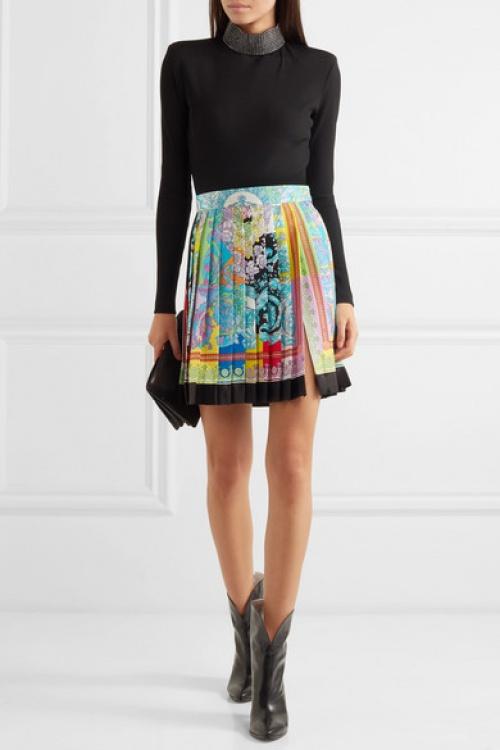 Versace - Mini-jupe plissée