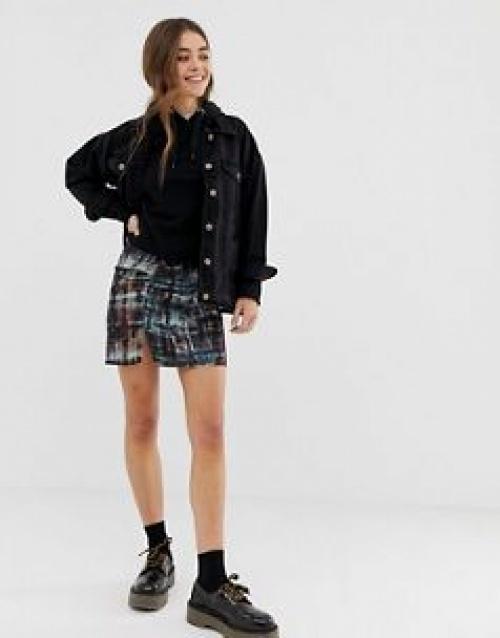 Pull&Bear - Mini-jupe froncée effet tie and dye