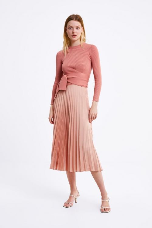 Zara - Pull avec noeud