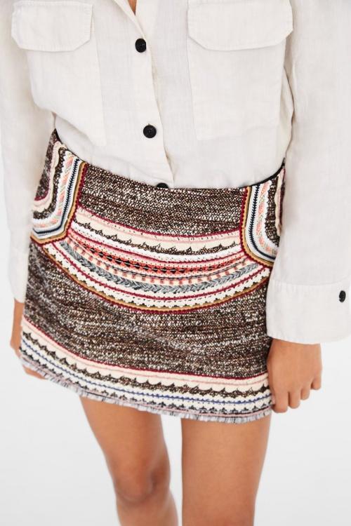 Zara - Mini jupe à rubans fantaisie
