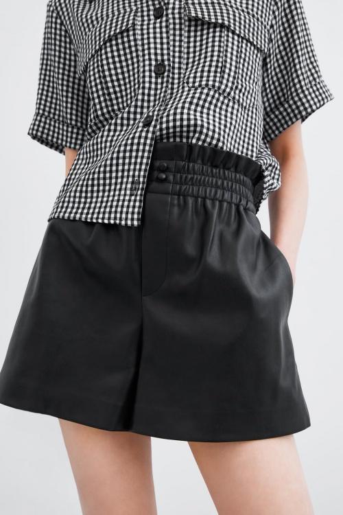 Zara - Short effet cuir