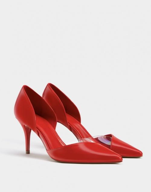 Bershka- Chaussures à talons en vinyle