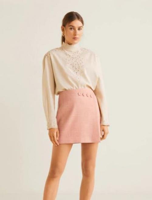 Mango - Mini-jupe détail boutons