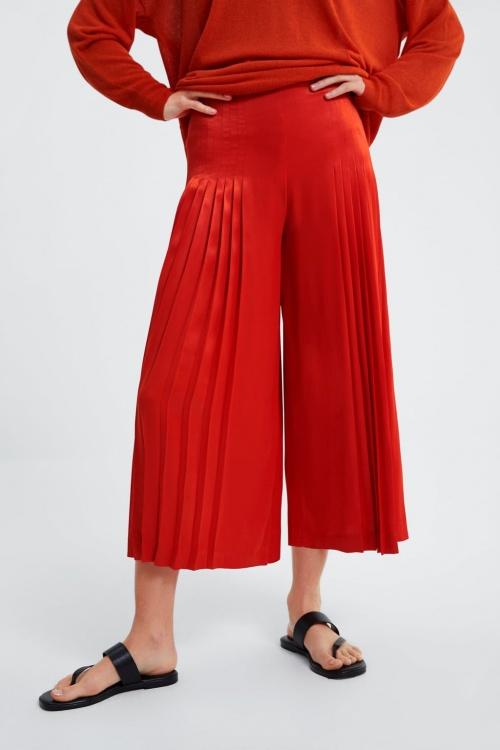 Zara - Jupe culotte plissée