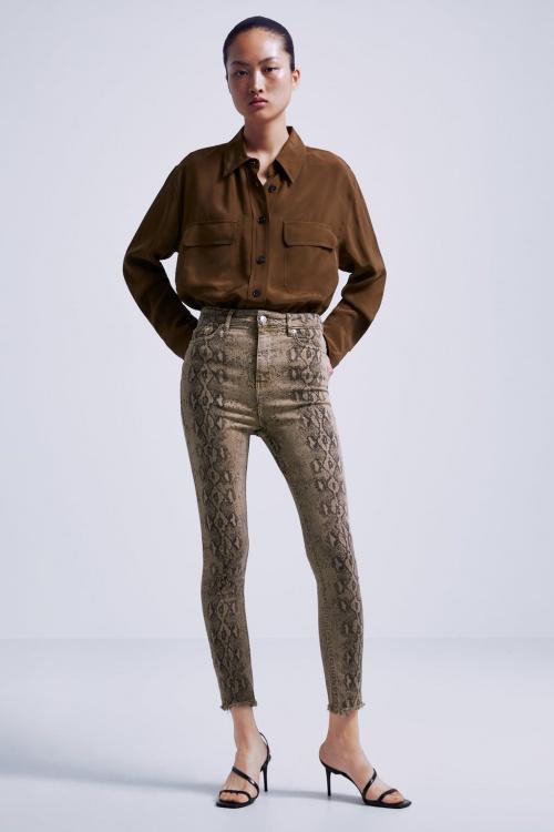 Zara - Pantalon imprimé serpent