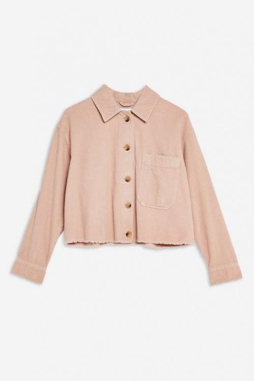 Topshop - Veste-chemise en velours côtelé