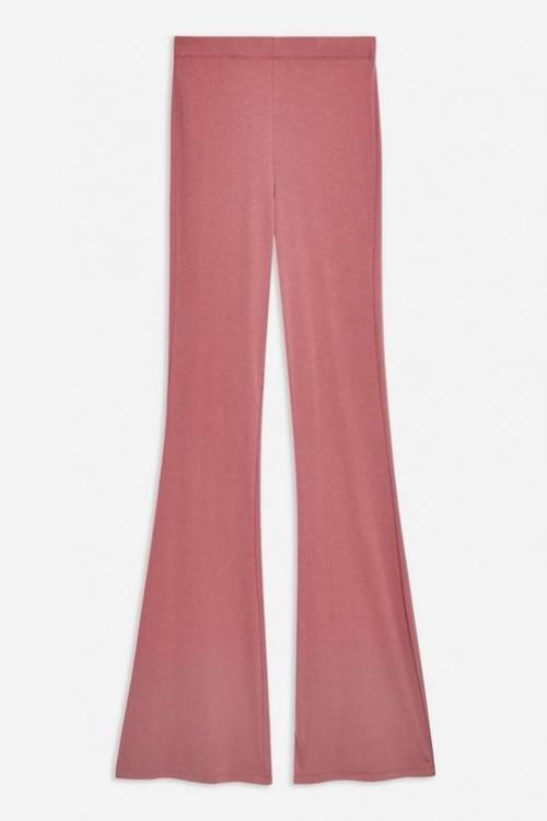 Topshop - Pantalon évasé en cupro côtelé