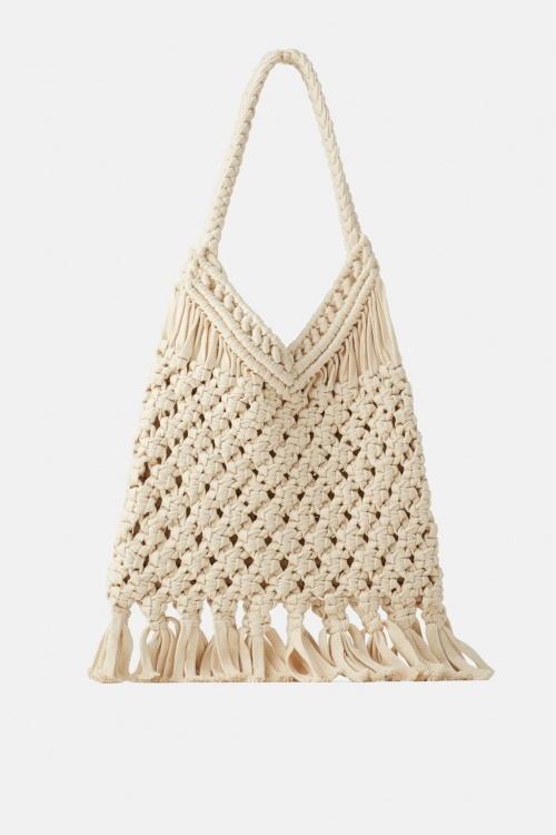 Zara - Sac shopper en crochet