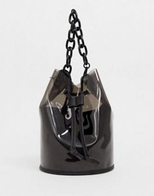 Bershka - Sac à main avec poignée chaîne en plastique