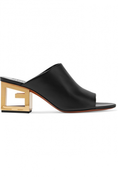 Givenchy - Mules en cuir Triangle