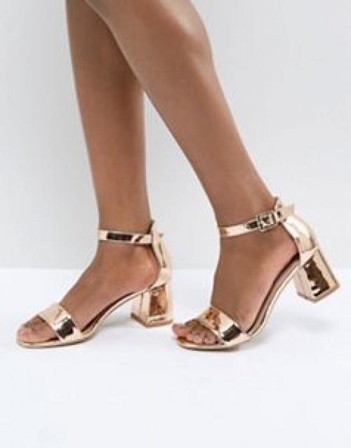 Glamorous - Sandales minimalistes à talons carrés mi-hauts