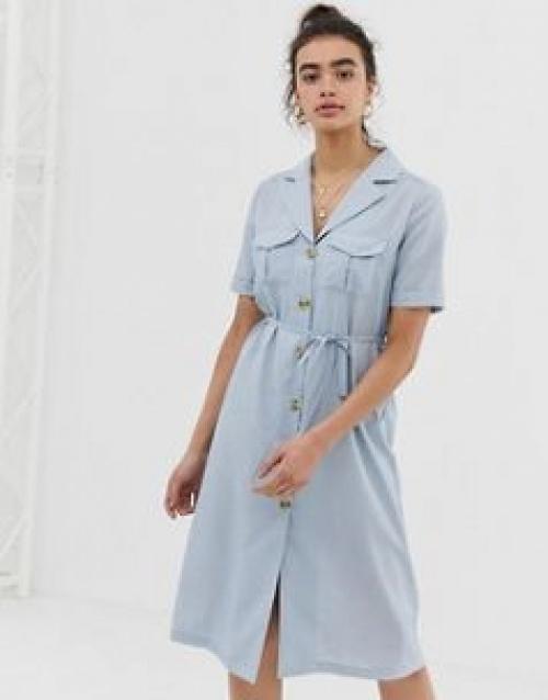 Emory Park - Robe chemise mi-longue avec col à revers