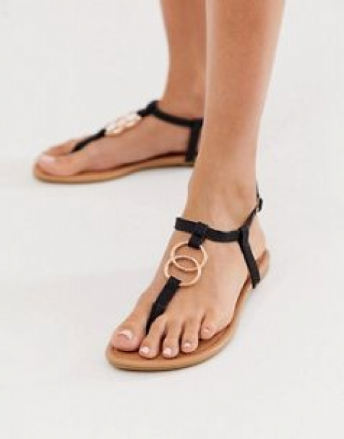 New Look - Sandales plates à anneaux