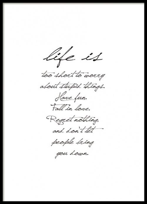 Desenio - Life is Affiche