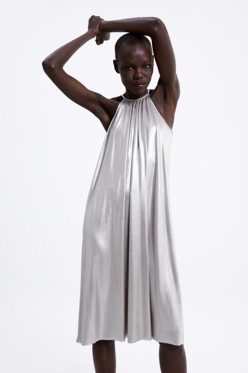 Zara - Robe argentée