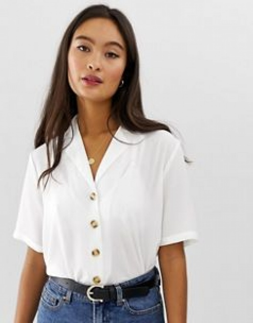 Only - Top manches courtes boutonné