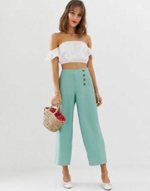 Vero Moda - Pantalon large à boutons