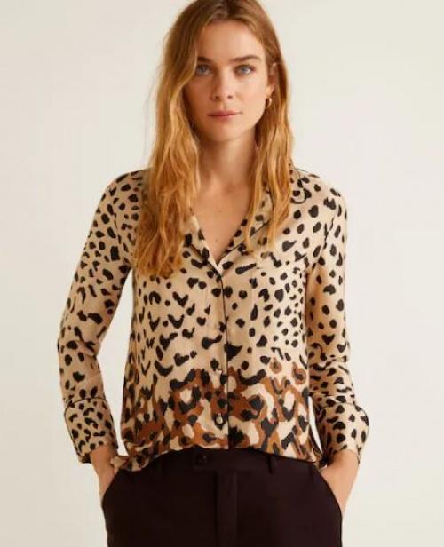 Mango - Chemise en imprimé léopard