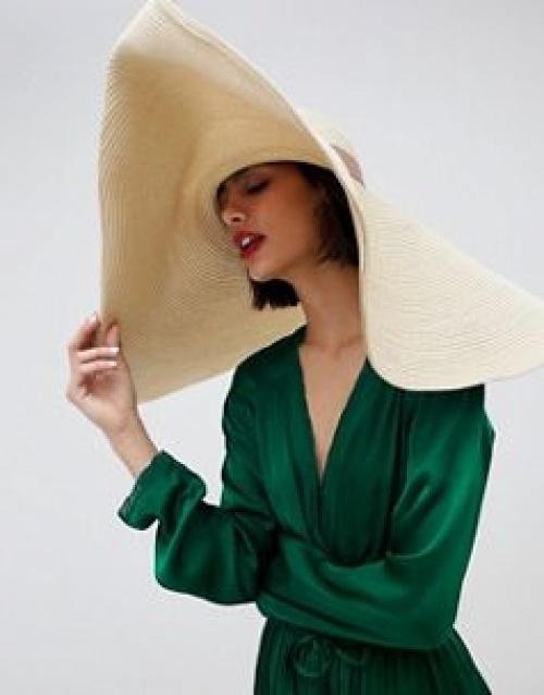 ASOS DESIGN - Chapeau de paille oversize à bord retourné