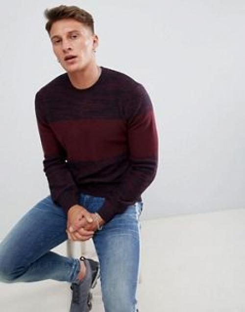 Armani Exchange - Pull color block ras de cou teinté par sections