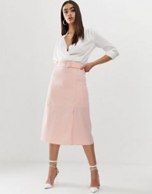 Fashion Union - Jupe mi-longue avec boucle