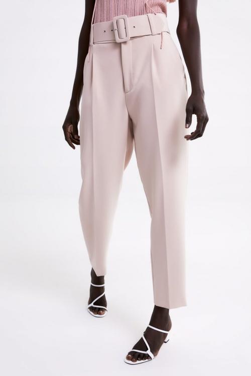 Zara - Pantalon à pinces et ceinture