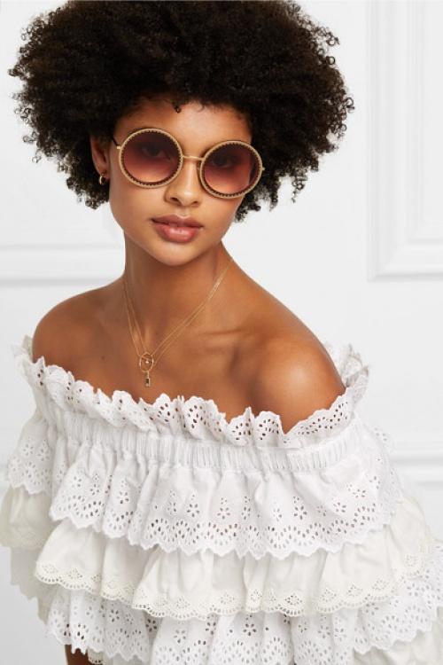 Dolce & Gabbana - Lunettes de soleil rondes