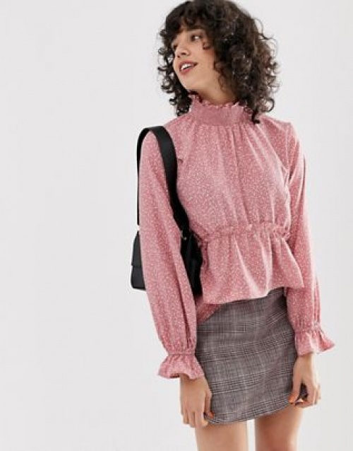 Lost Ink - Blouse col montant