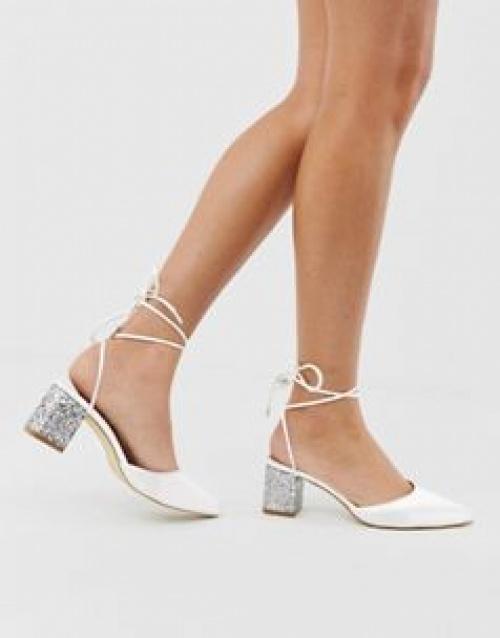 Be Mine - Bridal Honor - Chaussures en satin à talons mi-hauts pailletés