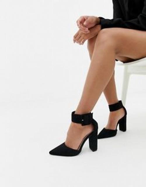 Glamorous - Escarpins à talon carré et bride à boucle