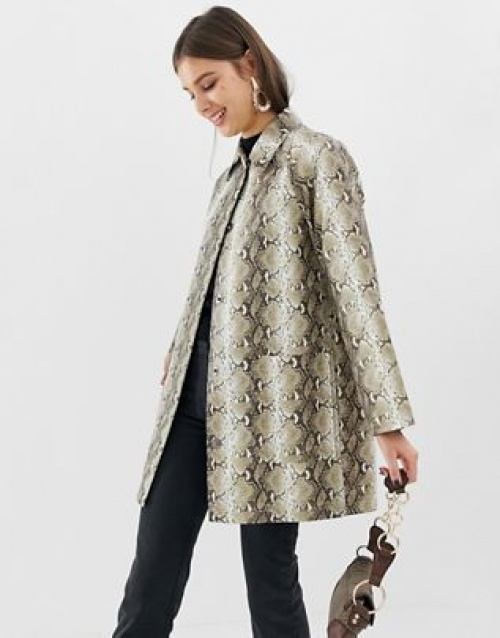 ASOS DESIGN - Trench imprimé