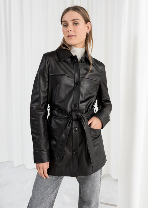 & Other Stories - Veste en cuir