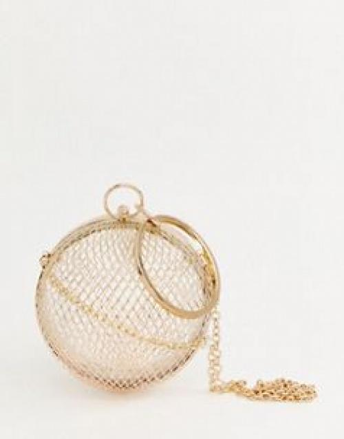 ASOS DESIGN - Pochette effet cage en forme de sphère