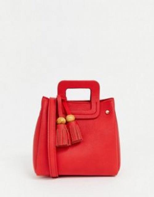 Pull&Bear - Petit sac bandoulière avec pampilles
