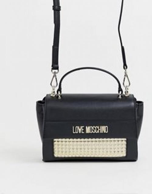 Love Moschino - Petit sac porté épaule clouté