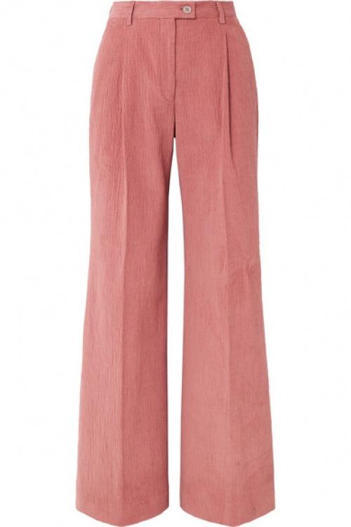 Acne Studios - Pantalon large en velours de coton mélangé côtelé