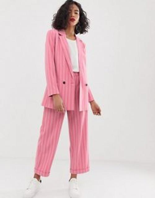 Moss Copenhagen - Pantalon ajusté d'ensemble à rayures