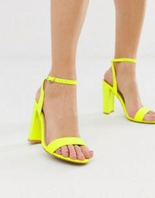 Glamorous - Sandales minimalistes à talon carré