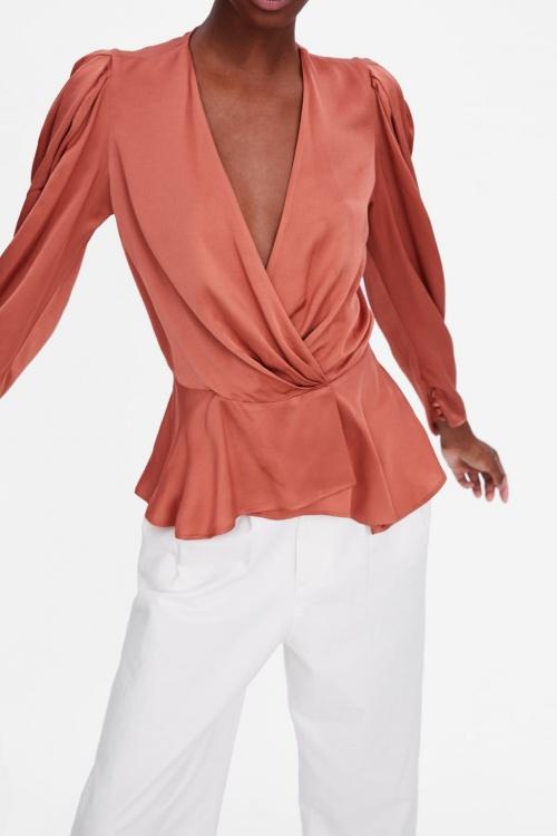 Zara - Blouse Wrap en satin