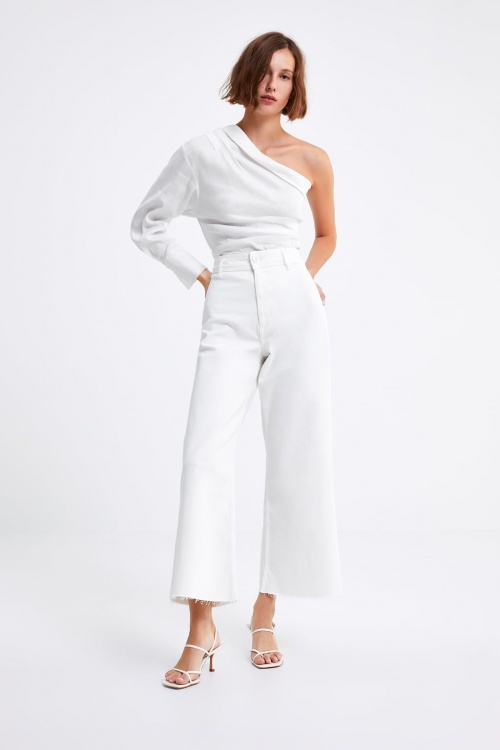 Zara - Jean blanc large