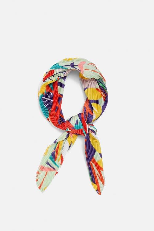Zara - Foulard plissé imprimé