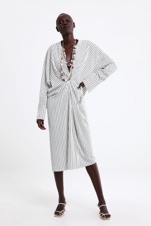 Zara - Robe imprimée rayures