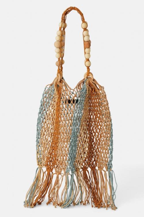 Zara - Sac seau en corde naturelle