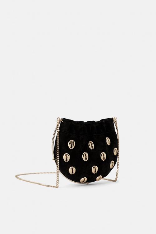 Zara - Mini sac bandoulière en cuir