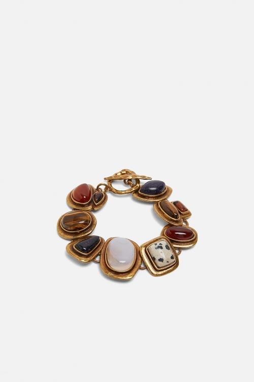 Zara - Bracelet en matières variées