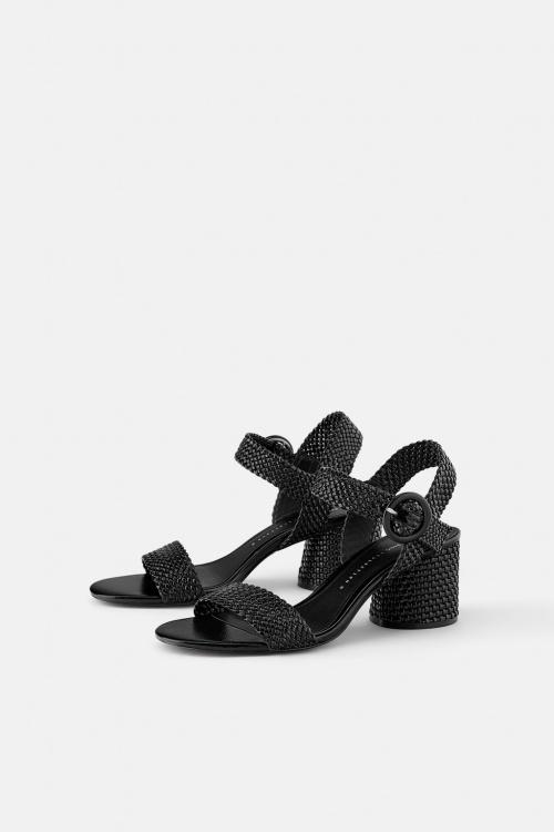 Zara - Sandales à talons larges