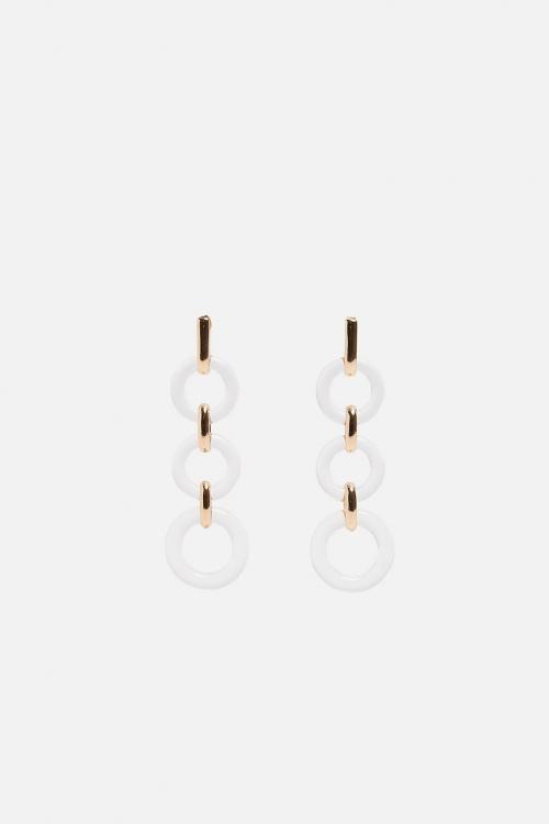 Zara - Boucles d'oreilles en matières variées