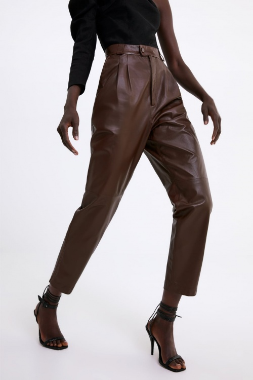 Zara - Pantalon en cuir