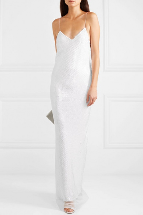 Stella McCartney - Robe de mariée en mousseline de soie